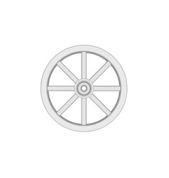 vintage wooden wheel in light design vector image