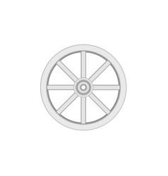 Vintage wooden wheel in light design vector