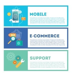 Web internet development set Mobile vector image vector image