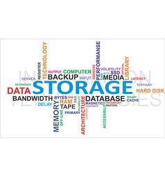 Word cloud storage vector