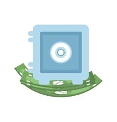 Bill green strongbox money financial item design vector