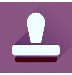 Flat icon with long shadow stamp office vector