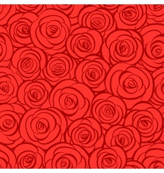 Seamless abstract red roses background vector image