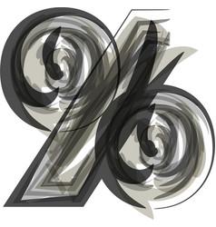 Abstract percent symbol vector