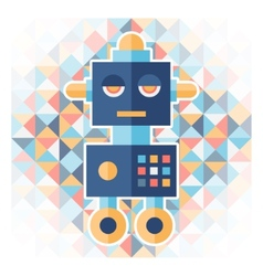 Geometric background with robot vector image