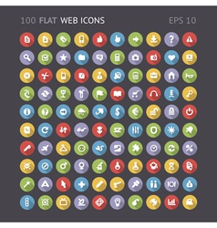 Flat web interface icons vector image