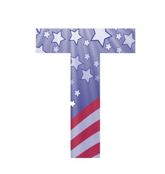 American letter t vector