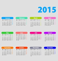 2015 calendar with bright bubbles vector image