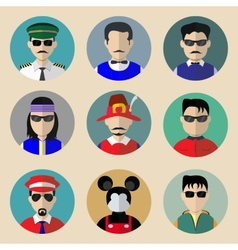Set of avatars vector