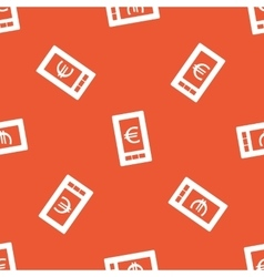 Orange euro on screen pattern vector