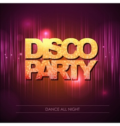 Disco background disco party vector