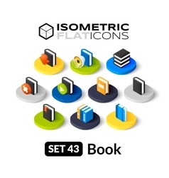 Isometric flat icons set 43 vector