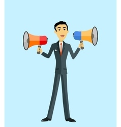 Boss with megaphone vector