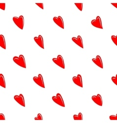 Valentine texture with red hearts vector