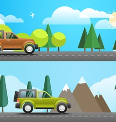 Take vacation travelling concept flat design vector