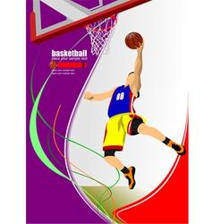 al 1011 basketball 03 vector image vector image