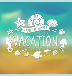 Banner for summer vacation on tropical beach vector