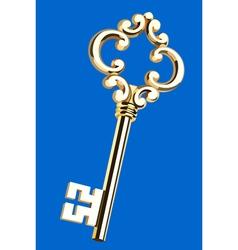 beautiful golden key vector image vector image