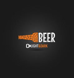 Beer bottle opener design background vector