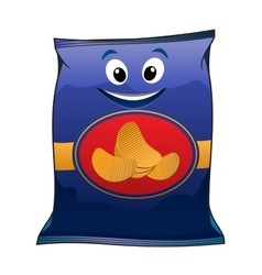 Cartoon potato chips vector image