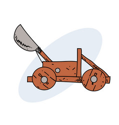Catapult hand drawn image vector