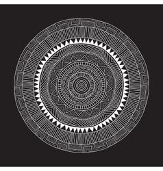 celtic knot pattern card mandala amulet vector image