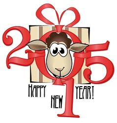 Chinese symbol lamb 2015 year vector