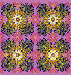 colour spring theme seamless pattern background vector image