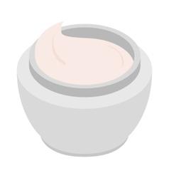 Cream icon isometric 3d style vector image