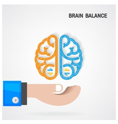 Creative colorful left and right brain idea vector