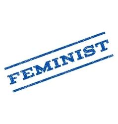 Feminist watermark stamp vector