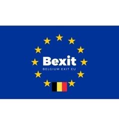 Flag of belgium on european union bexit - belgium vector