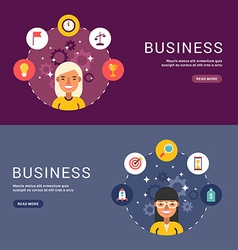 Flat Design Concept for Web Banners Business Icons vector image vector image