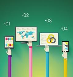Flat design modern icons set for mobile apps vector image vector image
