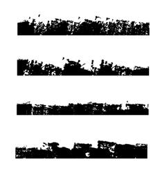 Four black frames grunge vector image vector image