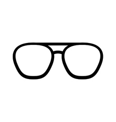 glasses accessory isolated icon vector image