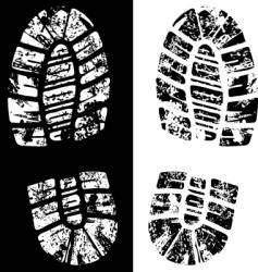 grungy footprint vector image