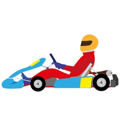 karting vector image vector image