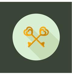 key couple circle icon flat design vector image vector image