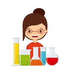 laboratory supplies design vector image