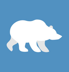 polar bear wild animal north pole beast of arctic vector image