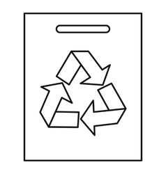 Recycling icon outline style vector image vector image