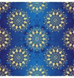 Seamless dark blue vintage christmas pattern vector image vector image