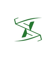 Sign of the letter S and X vector image