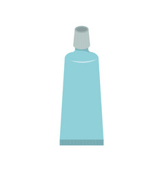 tube of toothpaste colorful silhouette vector image