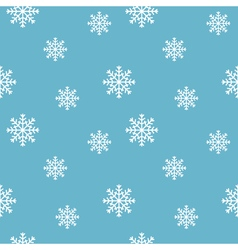 Winter background Seamless snowflakes pattern vector image vector image