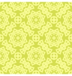 Yellow Ornamental Seamless Line Pattern vector image vector image