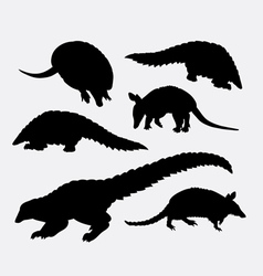 Anteater animal silhouette vector