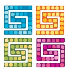 Set of of board game for vector image