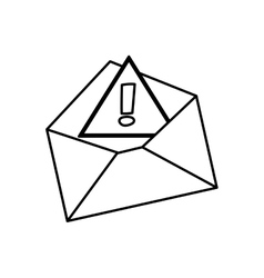 Isolated email or mail symbol vector